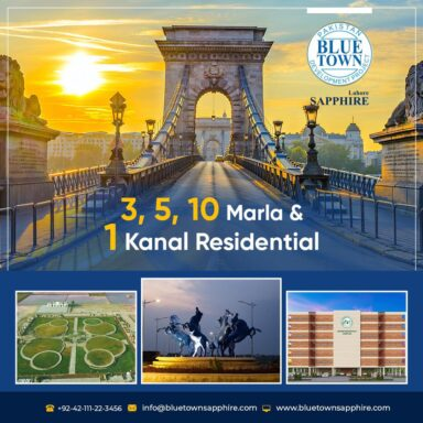 3, 5, 10 Marla & 1 Kanal Residential at Blue Town Sapphire!