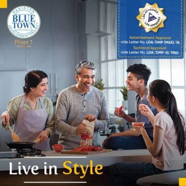 Live in Style at Blue Town Phase 1, Lahore (LDA Approved)